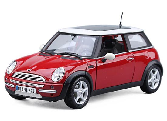 1:18 Scale MaiSto Yellow / Red Diecast Mini Cooper Model