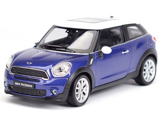 1:24 Welly Blue / Red / Brown Diecast Mini Cooper Paceman Model