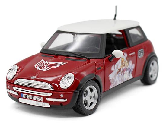 1:24 Scale Red MaiSto Diecast Mini Cooper Model
