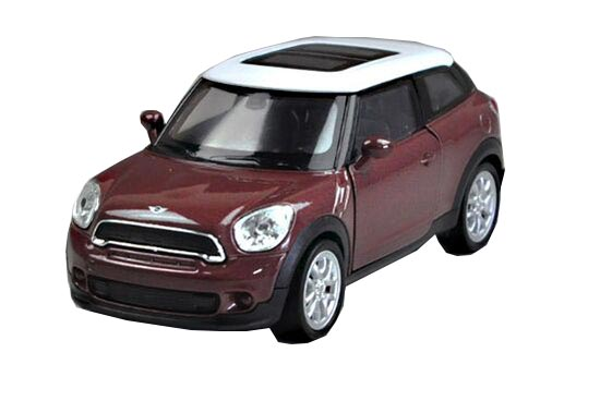 Kids 1:36 Red / Brown Welly Diecast Mini Cooper Paceman Toy