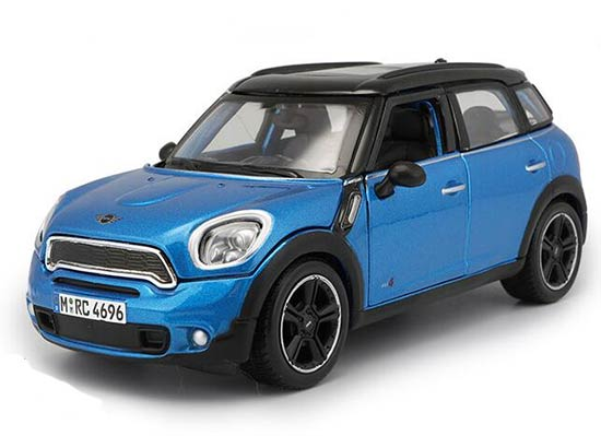 1:24 Silver / Brown / Blue Diecast Mini Cooper Countryman Model