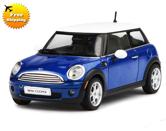 1:43 Golden / Blue / Silver AUTOart Diecast Mini Cooper Model