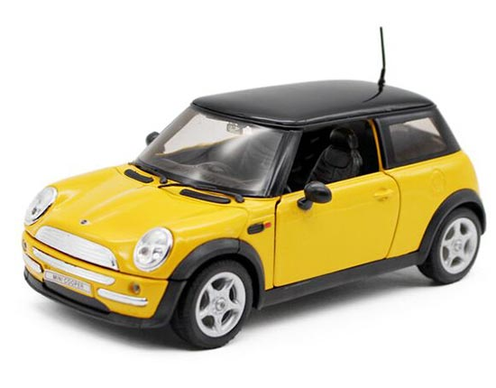 1:24 Welly Yellow / Red Diecast Mini Cooper Model
