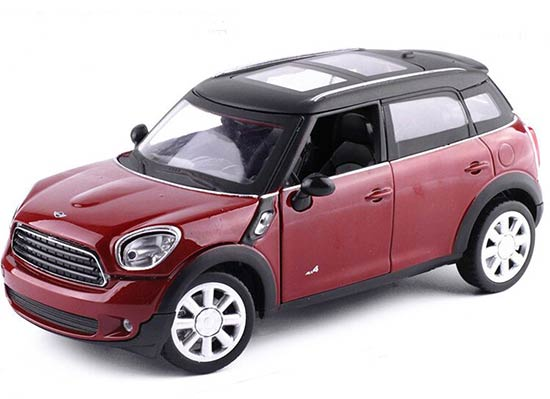 1:24 Scale Black / Blue / Red Diecast Mini Cooper Model