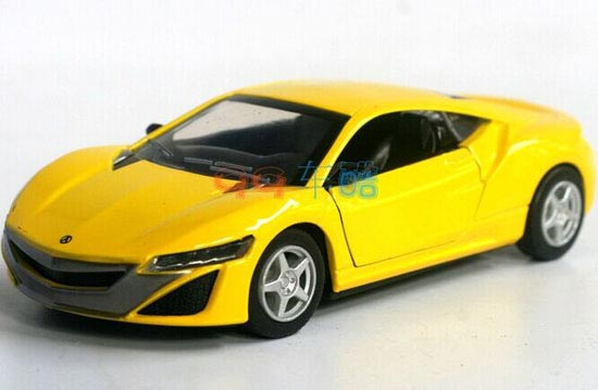 Kids 1:32 Yellow / Red / Green / Pink Diecast Acura NSX ...