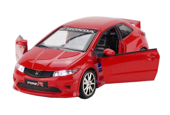 1:32 Scale Kids Red / Yellow / White Diecast Honda Civic Toy