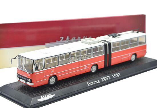 Red Atlas 1:72 Scale Diecast Ikarus 280T 1987 Articulate Bus