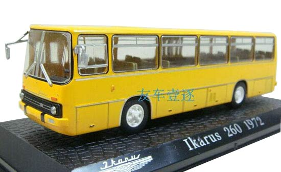 1:72 Scale Yellow Atlas Die-Cast Ikarus 260 1972 Bus Model