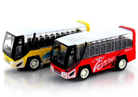 Mini Scale Kids Pull-Back Function Die-Cast Tour Bus Toy