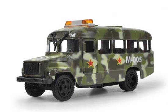Kids Army Green Pull-Back Function Diecast Kavz Military Bus Toy