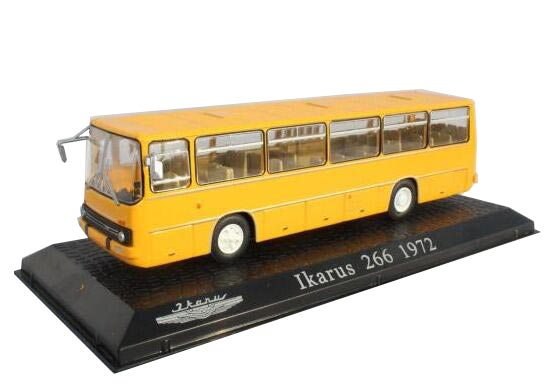 Yellow 1:72 Scale Atlas Die-Cast Ikarus 266 1972 Bus Model
