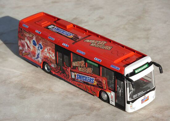1:64 Scale Red Die-Cast 2008 BeiJing Olympic City Bus Model