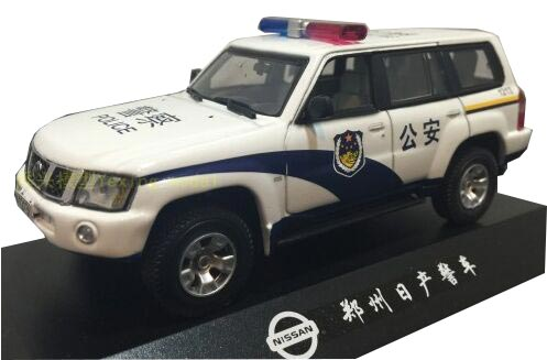 White 1:43 Scale Police Theme Diecast Nissan Patrol Model