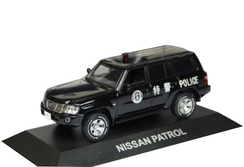 Black 1:43 Scale Police Theme Diecast Nissan Patrol Model