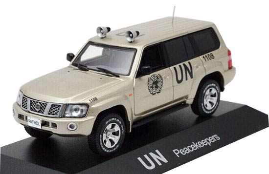 Golden 1:43 Scale UN Peacekeepers Diecast Nissan Patrol Model