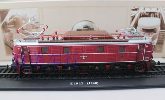Wine Red 1:87 Scale Atlas E 19 12 1940 Train Model