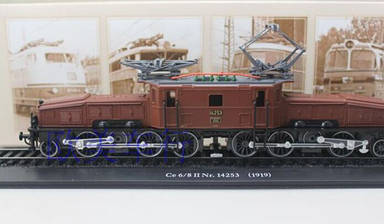 Brown 1:87 Scale Atlas Ce 6/8 Nr.14253 1919 Train Model