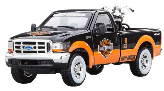 Black-Orange 1:24 Scale Die-Cast Ford F150 Pickup Truck Model