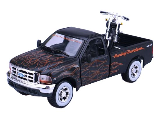 1:24 Scale MaiSto Black Die-Cast Ford F350 Pickup Truck Model