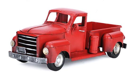 Tinplate Medium Scale Red / Green Vintage Pickup Truck Model