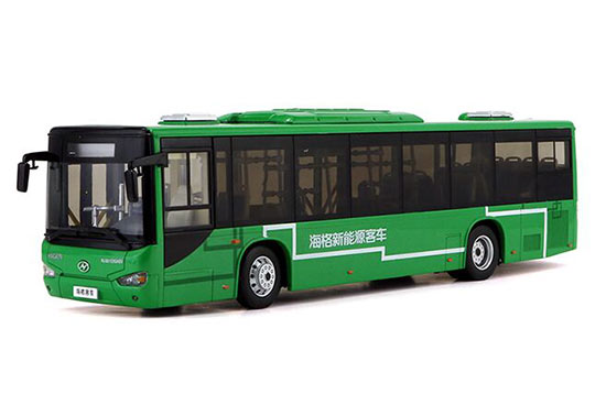 Green 1:42 Scale Die-Cast HIGER B92H City Bus Model