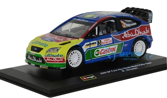 1:32 Scale Bburago 2008 WRC Ford Focus Car Model