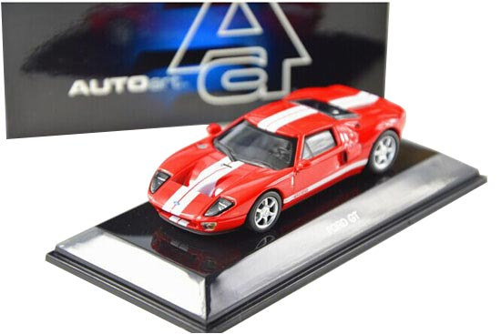1:64 Scale AUTOART Red / Yellow Diecast Ford GT Model