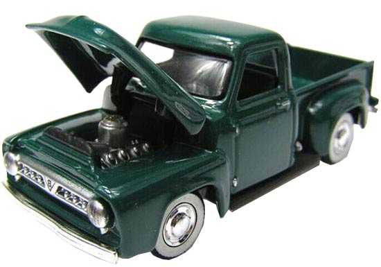 1:64 Scale Yatming Deep Green Diecast 1953 Ford F100 Pickup