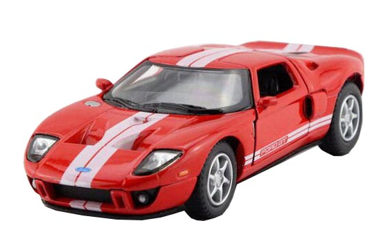 Red / Black / White / Yellow 1:36 Kids Diecast 2006 Ford GT Toy