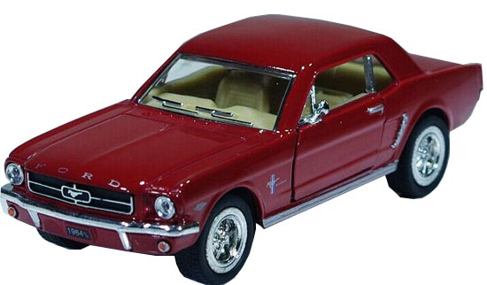 Kids Black / Red / White / Blue Die-Cast 1964 Ford Mustang Toy