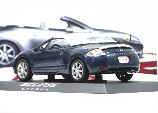 1:43 Deep Blue Diecast Mitsubishi ECLIPSE SPYDER Model