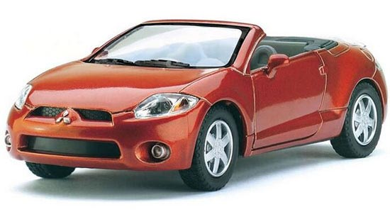 White /Orange /Red / Blue 1:36 Diecast Mitsubishi Eclipse SPYDER