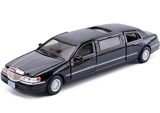 Black / White / Champagne 1:38 Diecast Lincoln Limousine Toy