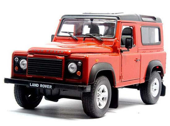 1:24 Red / White / Black / Silver Land Rover Defender Model