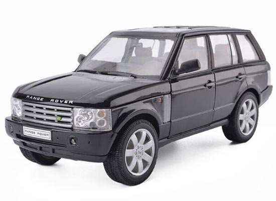 Silver / Black / White 1:18 Scale Diecast Range Rover Model