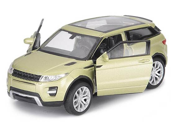 Kid 1:36 White /Light Green / Red Diecast Range Rover Evoque Toy