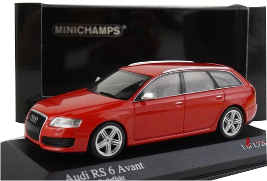 Red 1:43 Scale Minichamps Diecast Audi RS6 AVANT Model