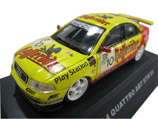 Yellow 1:43 Scale Diecast Audi A4 QUATTRO Model