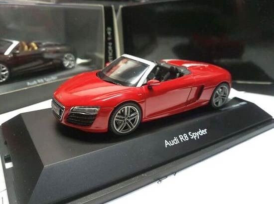 1:43 Scale Red SCHUCO Diecast Audi R8 Spyder Model