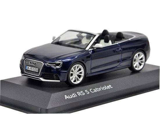Blue 1:43 Scale Minichamps Diecast Audi RS5 Cabriolet Model