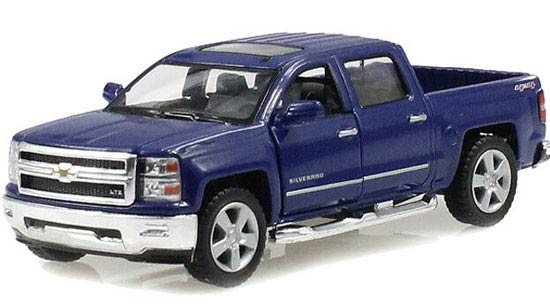 Green / Red / Black /Blue Diecast Chevrolet Silverado Pickup Toy