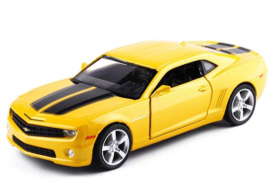 Kids 1:36 Scale Black / Red /Yellow Diecast Chevrolet Camaro Toy