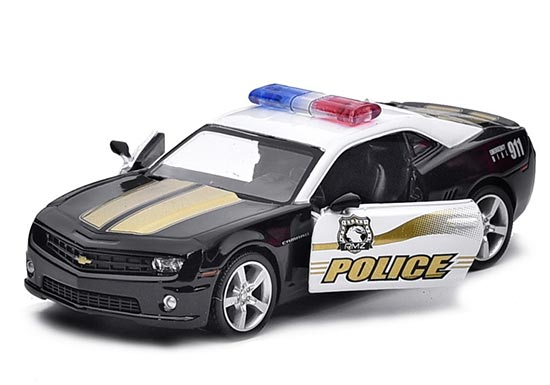 Black 1:36 Scale Kids Police Diecast Chevrolet Camaro Toy