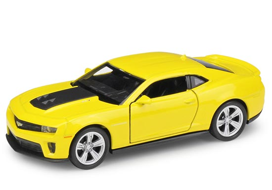 Yellow 1:36 Scale Kids Welly Diecast Chevrolet Camaro Toy