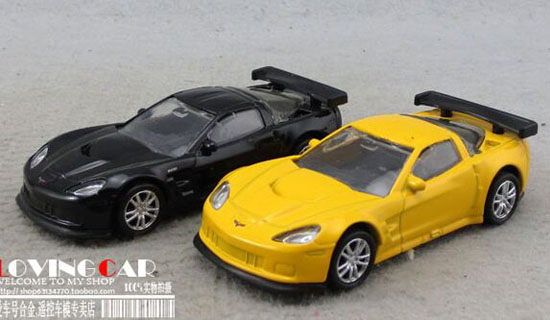 Black / Yellow Kids 1:64 Scale Diecast Chevrolet Corvette Toy