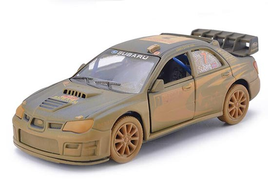 1:36 Scale Blue Kids Muddy Diecast Subaru IMPREZA Toy