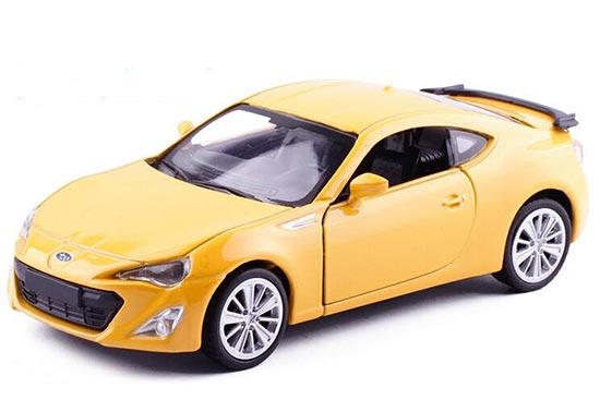 Blue / Black / Yellow Kids 1:36 Scale Diecast Subaru BRZ Toy