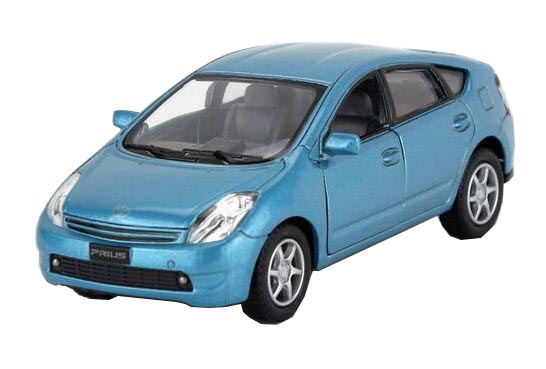 Kids Blue / Champagne / Silver / Red Diecast Toyota Prius Toy