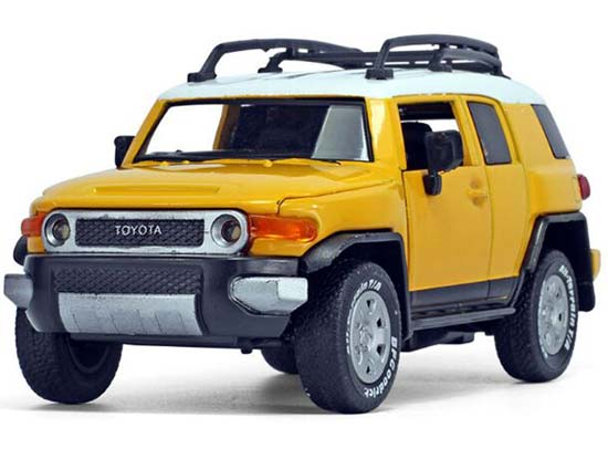 Blue / Yellow 1:32 Scale Kids Diecast Toyota FJ Cruiser Toy