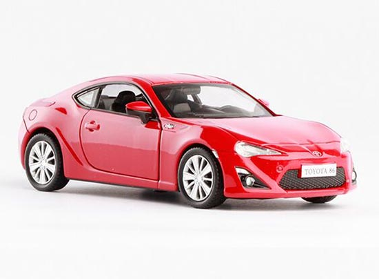 Kids Red /White 1:36 Scale Pull-Back Function Diecast Toyota 86